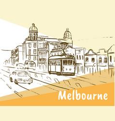 Melbourne australia vector