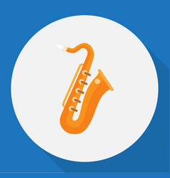 Melody symbol on saxsaphone vector