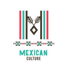 Mexican culture logo vector