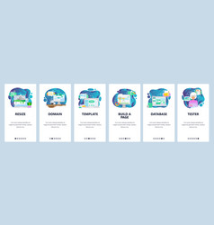 Mobile app onboarding screens image resize www vector