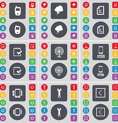 Mobile phone Cloud File Survey Wi-Fi Smartphone vector