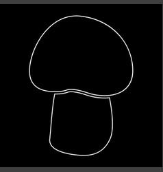 Mushroom - champignon white color path icon vector