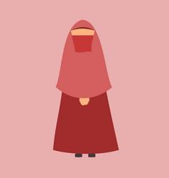 muslim - muslimah for ramadhan vector image