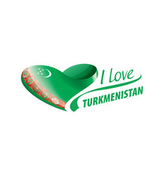 national flag turkmenistan in shape of vector image