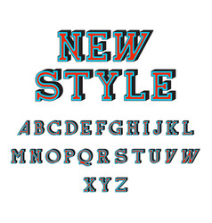 new style isometric font vector image