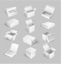 packages boxes opened top isolated icon vector image