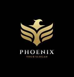 Phoenix logo eagle and bird logo template vector