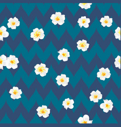 plumeria flowers beautiful fabric pattern vector image