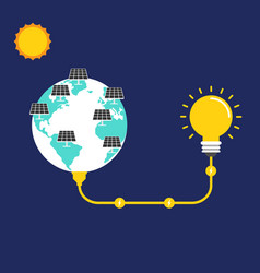 renewable energy concept flat design vector image