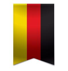 Ribbon banner - german flag vector image