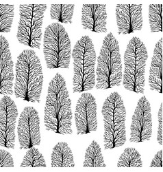 seamless texture with trees without foliage vector image