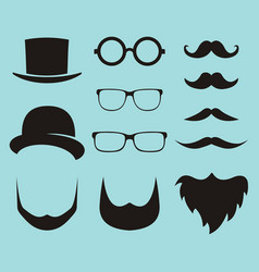 set of dress up constructor with different men vector image