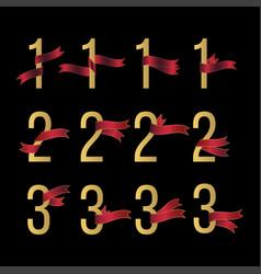 Set of number 1 2 3 vector