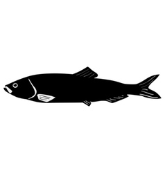 Silhouette of herring vector