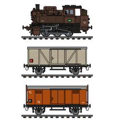 Slassic freight steam train vector