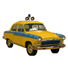 Soviet retro car yellow vector image