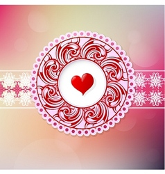 St Valentines greeting card vector