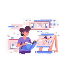Statistician working with documents vector