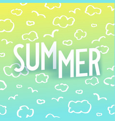 Summer creative isometric typography with shadow vector