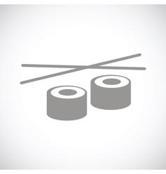 Sushi black icon vector image