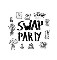 swap meet plant exchange vector image