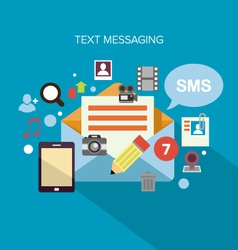 Text Messaging vector image