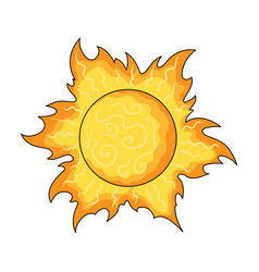 the sun is brightsummer rest single icon in vector image