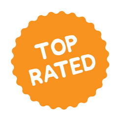 top rated stamp on white vector image