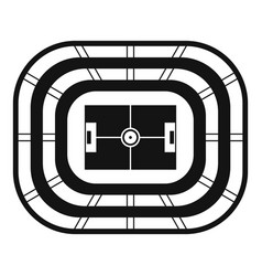 Top view stadium icon simple style vector