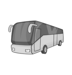 Tourist bus icon black monochrome style vector