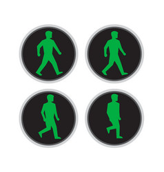 traffic light man walk cycle sequence vector image