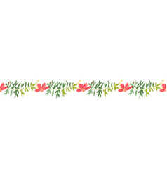 tropical flower hand drawn header or border line vector image