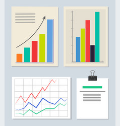 various schedules set color vector image