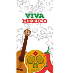 Viva mexico vertical banner vector