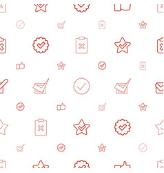 Vote icons pattern seamless white background vector