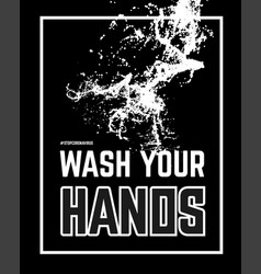 Wash your hand with water vector