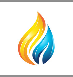 water flame colorful logo vector image