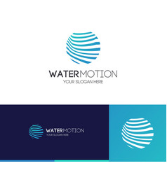 water motion logo modern style vector image