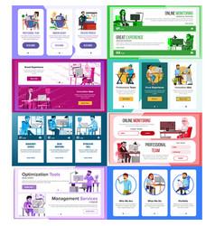 Website banners set horizontal vertical vector