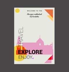 Welcome to the mosque-cathedral of cardoba spain vector