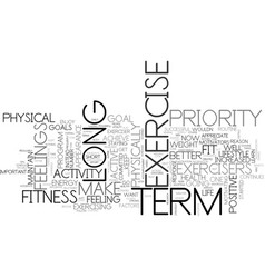 What can we learn from long term exercisers text vector