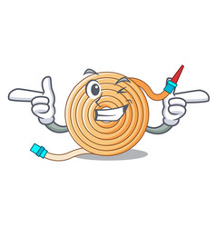 Wink garden water hose cartoon vector