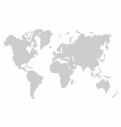 world map dot abstract map background vector image