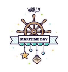 World maritime day vector