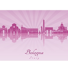 Bologna skyline in purple radiant orchid vector image vector image