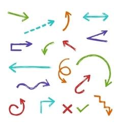Hand drawn arrow set vector image vector image