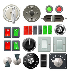 knob switch and dial design elements vector image vector image