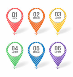 map markers pointers icons with blank place for vector image