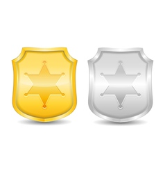 Police Badges vector image vector image