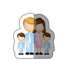 color family their boys twins icon vector image